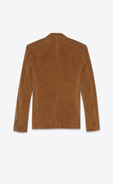 SAINT LAURENT Blazer Jacket Man Jacket in camel corduroy b_V4