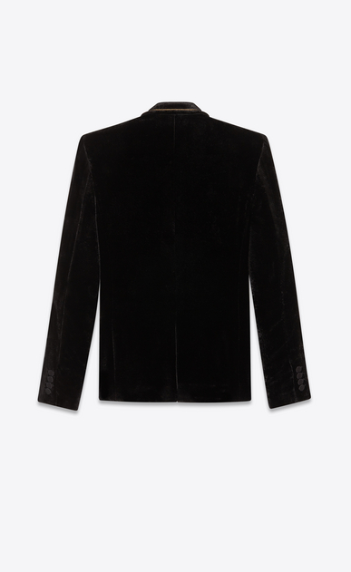 SAINT LAURENT Blazer Jacket Man Jacket in black print velvet b_V4