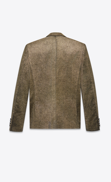 SAINT LAURENT Blazer Jacket Man Jacket in gold glitter velvet b_V4