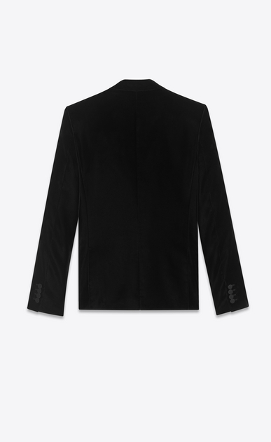 SAINT LAURENT Blazer Jacket Man Jacket in black velvet b_V4
