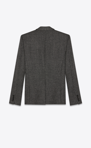 SAINT LAURENT Blazer Jacket Man Jacket in black and white checkered wool b_V4