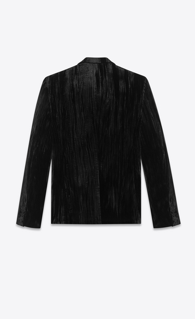 SAINT LAURENT Blazer Jacket Man Jacket in crinkled black velvet b_V4