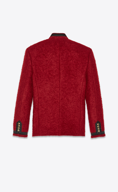 SAINT LAURENT Blazer Jacket Man Officer jacket in red mohair b_V4