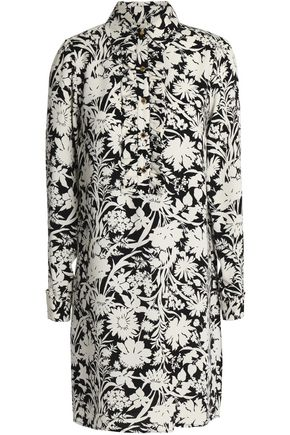 MICHAEL MICHAEL KORS Printed silk mini shirt dress