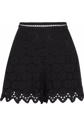 ZIMMERMANN Scalloped broderie anglaise cotton shorts