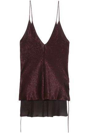 JUAN CARLOS OBANDO Metallic silk-blend camisole