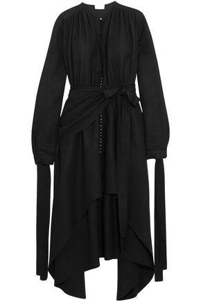 MAGDA BUTRYM Gela asymmetric draped silk midi dress