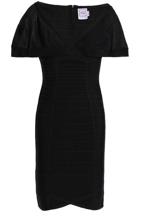 HERVÉ LÉGER Caitlin jersey-paneled bandage mini dress