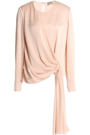 LANVIN Gathered washed-satin top