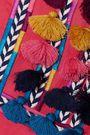FIGUE Nilu tasseled embroidered cotton tunic