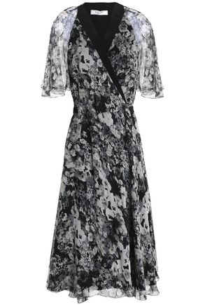 LANVIN Floral-print silk-georgette wrap dress