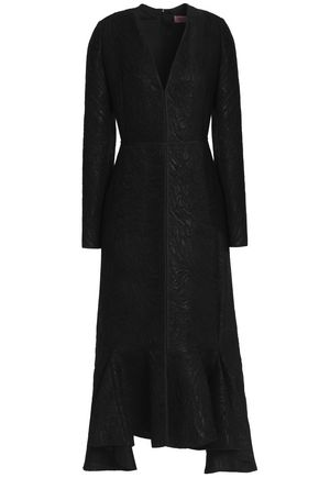 LANVIN Fluted jacquard midi dress