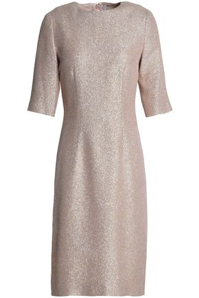 LANVIN Silk-blend lamé dress