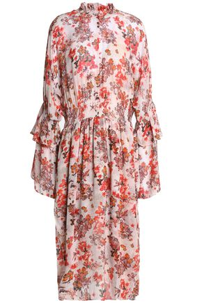 IRO Ruffled floral-print georgette midi dress
