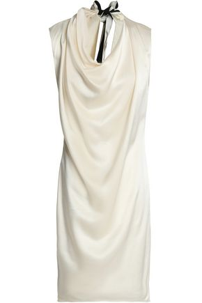 LANVIN Tie-back draped satin dress