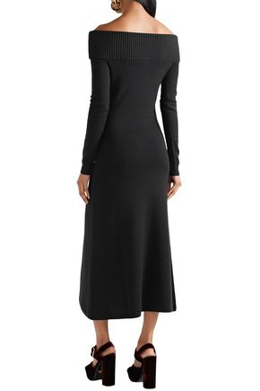GABRIELA HEARST Judy off-the-shoulder wool and cashmere-blend midi dress