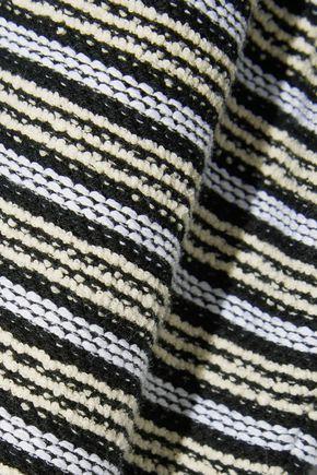 PROENZA SCHOULER Striped cotton-blend bouclé T-shirt