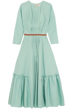 ROKSANDA Varena pleated cotton-poplin midi dress