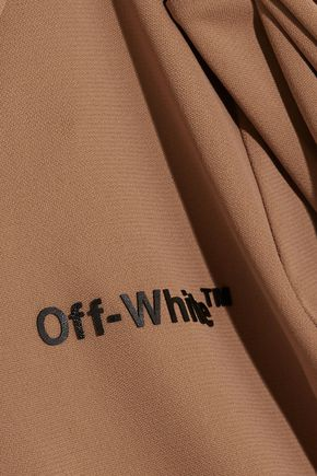 OFF-WHITE™ Lace-up appliquéd stretch-jersey bodysuit