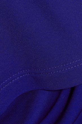 ATLEIN Cutout draped stretch-jersey top