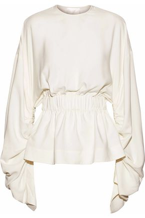 SOLACE LONDON Macy gathered cady blouse