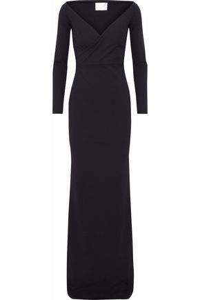 SOLACE LONDON Victorie crepe gown