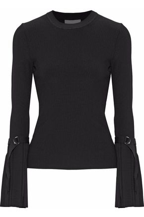 3.1 PHILLIP LIM Pleated ribbed-knit sweater