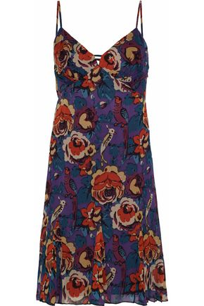 ANNA SUI Floral-print crepe de chine dress