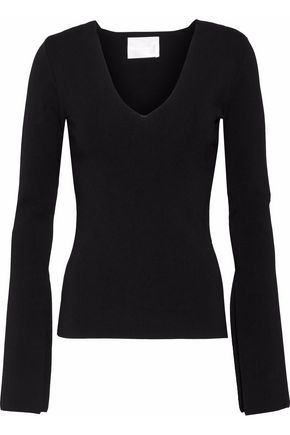SOLACE LONDON Stretch-ponte top