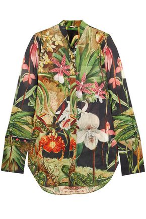 ADAM LIPPES Printed cotton-voile shirt