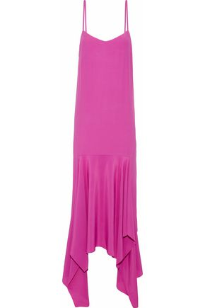 SOLACE LONDON Wyatt ruffled washed cupro maxi dress