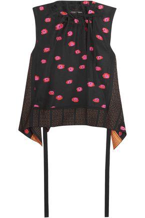 PROENZA SCHOULER Prelude cold-shoulder embellished crepe turtleneck top