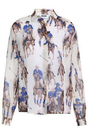 MSGM Printed chiffon shirt
