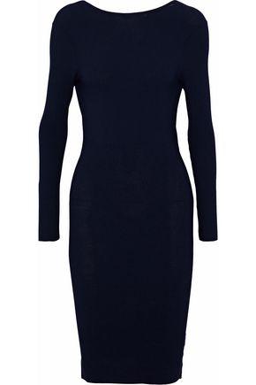HELMUT LANG Open-back ribbed-knit dress