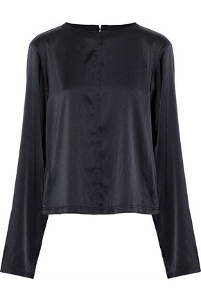 TOTÊME Silk-blend satin blouse