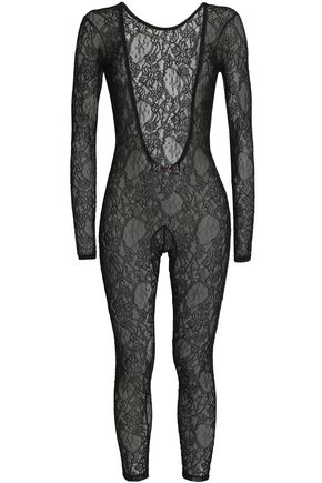 MSGM Chantilly lace bodysuit