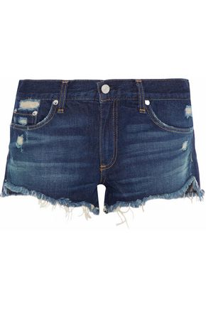 RAG & BONE Doris distressed denim shorts