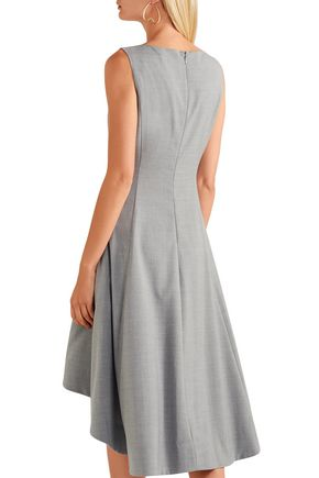 ADEAM Faux pearl-embellished woven dress