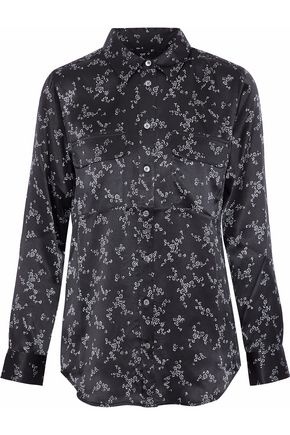 EQUIPMENT Slim Signature floral-print silk-satin shirt