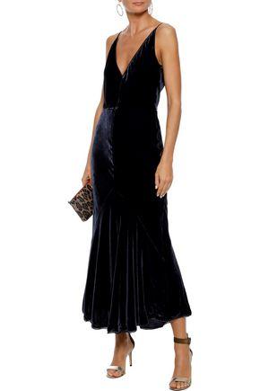 GABRIELA HEARST Bridget asymmetric velvet gown