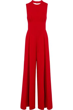 EMILIA WICKSTEAD Ethel tie-back wool-crepe jumpsuit