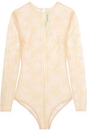 OFF-WHITE™ Appliquéd lace bodysuit