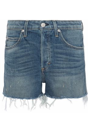 AMO Babe distressed denim shorts