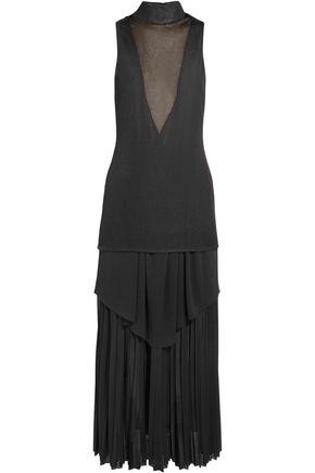 PROENZA SCHOULER Layered pleated stretch-knit maxi dress