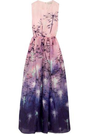 MARY KATRANTZOU + Disney printed silk-organza gown