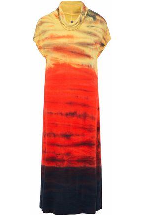 RAQUEL ALLEGRA Icon draped printed jersey midi dress