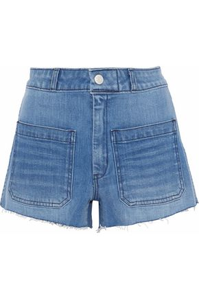 AMO Sailor frayed denim shorts