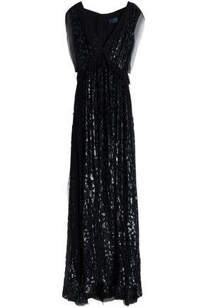 LANVIN Devoré-velvet gown
