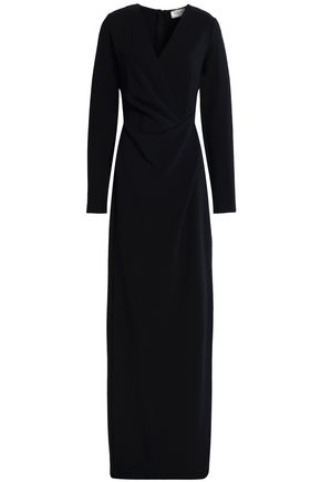 LANVIN Wrap-effect gathered stretch-jersey gown