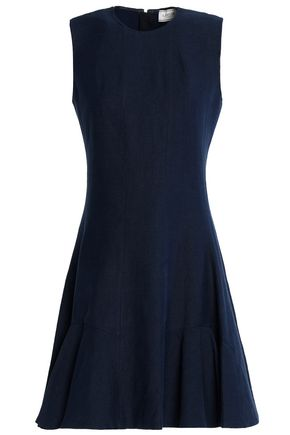 LANVIN Fluted linen-blend twill dress